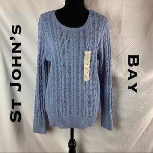 💎NWOT💎 St John's Bay Long Sleeve Crew Sweater